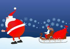 Santa Claus is coming Royalty Free Stock Photos