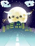Santa Claus Coming to City Stock Image