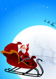 Santa Claus is coming to town Stock Image