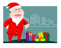 Santa Claus Is Coming To Town stock illustration