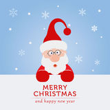 Santa claus is coming to town for the christmas. Lets celebrate the christmas and new year, santa claus will come to home at night Stock Photo