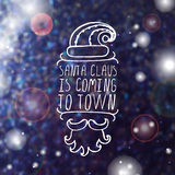 Santa Claus is coming to town - Christmas Stock Image