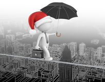 Santa claus is coming to town. Royalty Free Stock Images