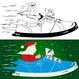 Santa claus is coming Royalty Free Stock Images