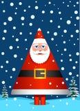 Santa Claus como o pinheiro ilustração stock