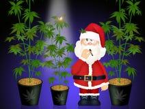 Santa Claus con el cáñamo ilustración del vector