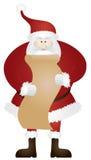 Santa Claus con el ejemplo de la lista de la Navidad Imagenes de archivo