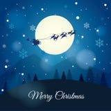 Santa Claus con el trineo del reno Imagen de archivo