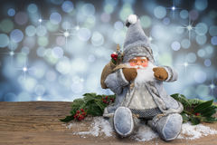 Santa Claus con fondo magico Fotografie Stock