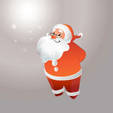 Santa Claus con gli smilings di vetro Immagine Stock