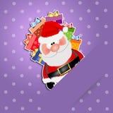 Santa Claus con i regali Immagine Stock