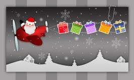 Santa Claus con i regali Immagini Stock Libere da Diritti