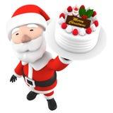 Santa Claus con il dolce, illustrazione 3D Fotografia Stock Libera da Diritti