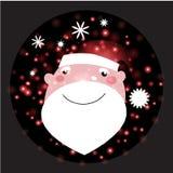 Santa Claus con il Natale fondo ed il vettore della cartolina d'auguri Illustrazione di Stock