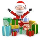 Santa Claus con il presente, illustrazione 3D Immagine Stock Libera da Diritti