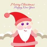 Santa Claus con l'etichetta di Buon Natale per la festa Immagini Stock Libere da Diritti