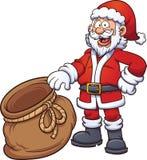 Santa Claus con la borsa Fotografia Stock Libera da Diritti