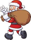 Santa Claus con la borsa Fotografia Stock