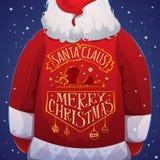 Santa Claus con la chaqueta Imágenes de archivo libres de regalías