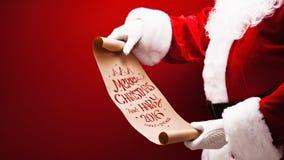 Santa Claus con la congratulazione Immagine Stock Libera da Diritti