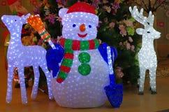 Santa Claus con la renna Fotografia Stock Libera da Diritti