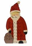 Santa Claus con las cajas de la sorpresa para cada día Foto de archivo libre de regalías