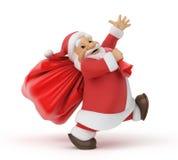 Santa Claus con un bolso de regalos Fotos de archivo