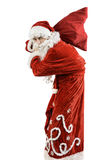 Santa Claus con un bolso de regalos Fotografía de archivo libre de regalías