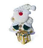 Santa Claus con un regalo Immagine Stock