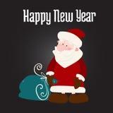 Santa Claus con una borsa dei regali Fotografie Stock