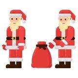 Santa Claus con una borsa dei regali vector l'illustrazione royalty illustrazione gratis