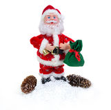 Santa Claus with cones Royalty Free Stock Image