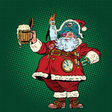 Santa Claus congratulates St. Patricks day Royalty Free Stock Photography