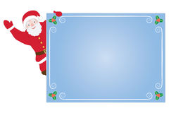 Santa Claus on congratulation card Royalty Free Stock Image