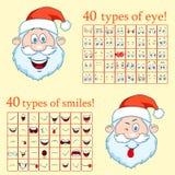 Santa Claus Constructor face. Create a face of Santa Claus. Stock Photography