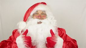 Santa Claus contenta almacen de video