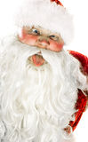 Santa Claus contorts funny mug Royalty Free Stock Photo