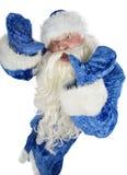Santa Claus contorts funny mug Royalty Free Stock Images