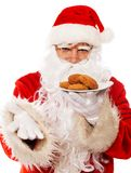Santa Claus with cookies Stock Image