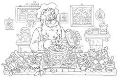 Santa Claus cooking Royalty Free Stock Photos