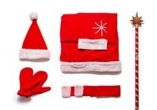Santa Claus Costume Stockbild