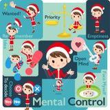 Santa Claus Costume mom_Mental & volontà royalty illustrazione gratis