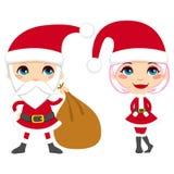 Santa Claus Couple Royalty Free Stock Photo