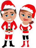 Santa Claus Couple Royalty Free Stock Photos