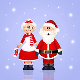 Santa Claus coupled Stock Photography
