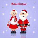 Santa Claus coupled Royalty Free Stock Photos