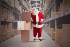 Santa Claus courier Stock Photography
