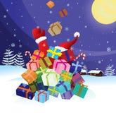 Santa Claus crash by Christmas Stock Photo