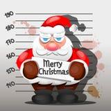 Santa Claus criminal ilustración del vector