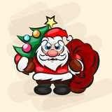 Santa Claus criminale Fotografia Stock